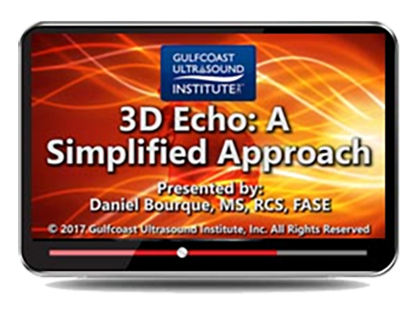 CME - 3D Echo:  A Simplified Approach