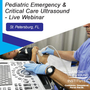 CME - Pediatric Emergency & Critical Care Ultrasound - Live Webinar - PECC-191W