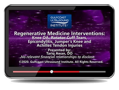 Regenerative Medicine Interventions: Knee OA, Rotator Cuff Tears, Epicondylitis, Jumpers Knee, and Achilles Tendon Injuries