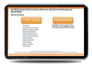 CME - ULTRA P.A.S.S. Abdominal Sonography Interactive Registry Review Mock Exam Online Version