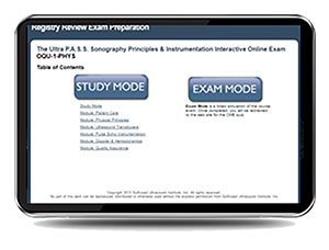 CME - ULTRA P.A.S.S. Sonography Principles and Instrumentation (SPI) Interactive Registry Review Online Mock Exam