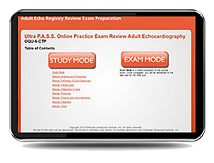 CME - ULTRA P.A.S.S. Adult Echocardiography Registry Review Interactive Online Mock Exam