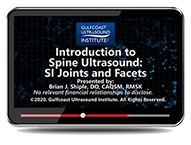 CME - Introduction to Spine Ultrasound: S/I Joints and Facets