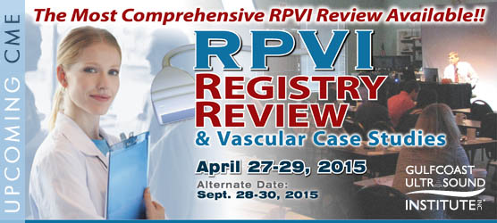 RPVI Ultrasound Registry Review and Vascular Case Studies Course